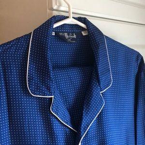 Men's Harrods Silk Pajamas